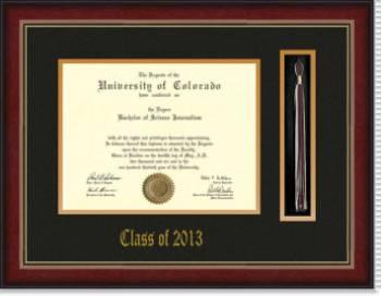 2013 shaded brandy frame diploma with tassel holder 2013 - Diploma Frames With Tassel Holder